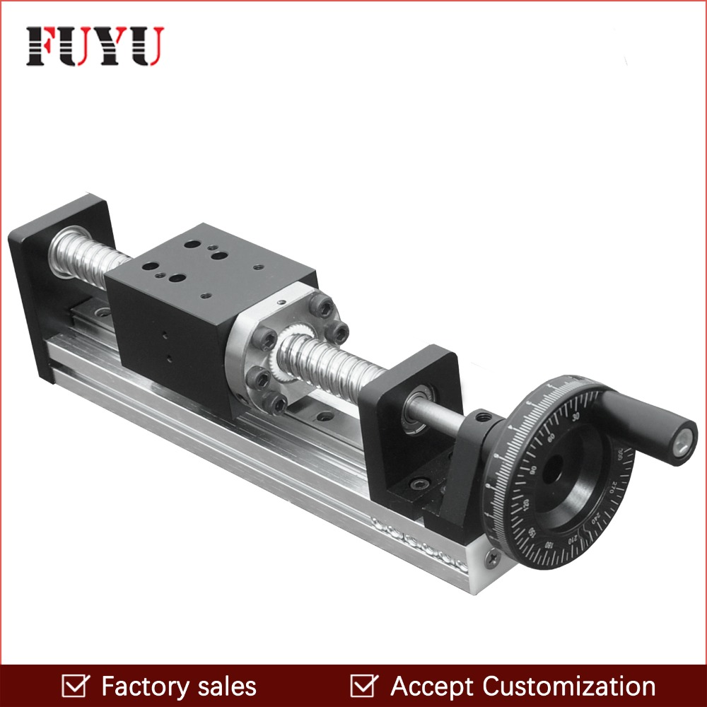 FLS40 Free Shipping CNC Manual Driven Ball Screw Linear Rail Guide Stage Slide for Linear Motion Actuator Position System