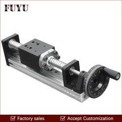 FLS40 Freies Verschiffen CNC Manuelle Angetrieben Ball Schraube Linear Schiene Führen Bühne Rutsche für Linear Motion Antrieb Position System