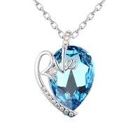 2017new coeur pendentif collier avec cristal de swarovski bon pour cadeau de mère en gros bijoux