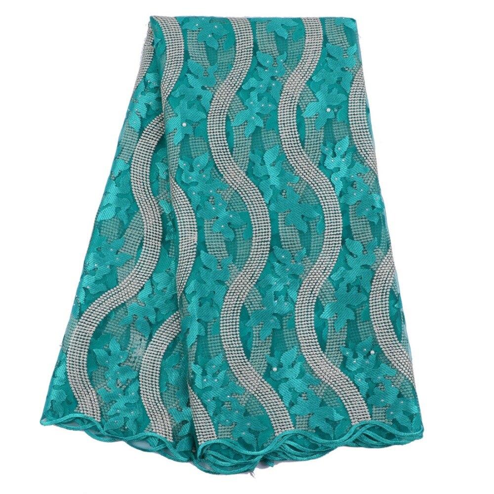 ⊰Bordado africano tulle encaje tejido de encaje francés con piedras ...