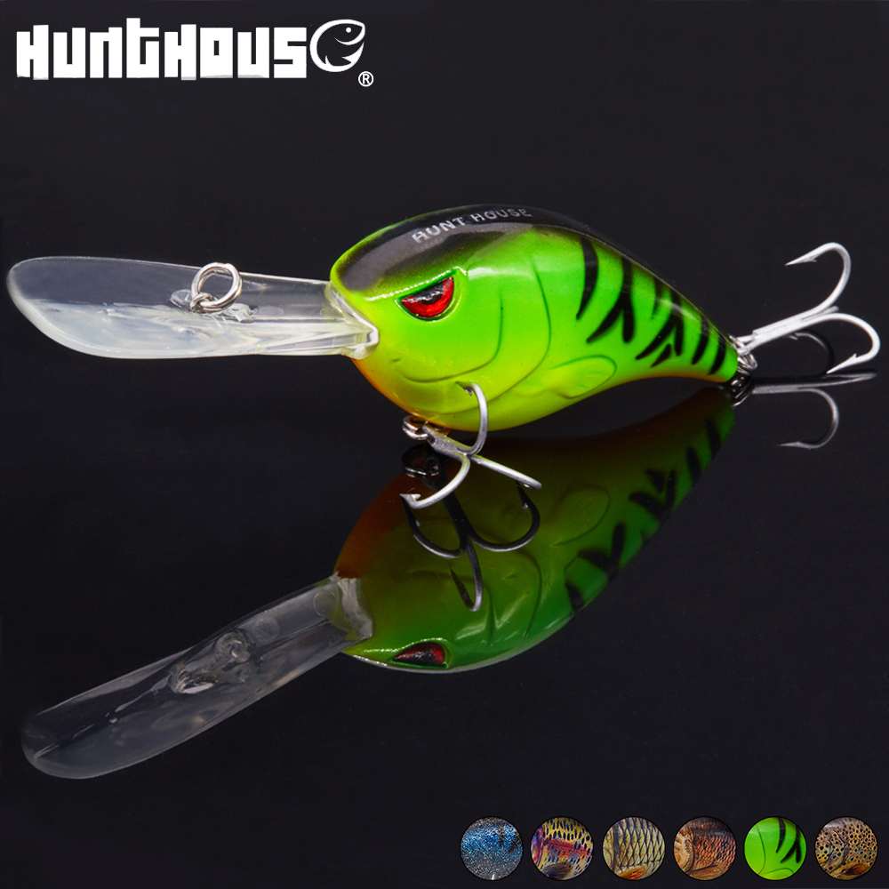 Hunthouse 7.6cm 28g Crank New Design Fishing Lures Swim Bait VMC 2# Hook Fishing Tackle Fishing Baits mixed set 5 8g 13 81g classic frog mouse soft fishing lure crank bait bass tackle hook plastic crank baits double claw like hook