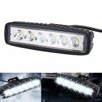 Car Styling 18W White Flood LED Work Light ATV Off Road Light Fog Driving Lamp Bar