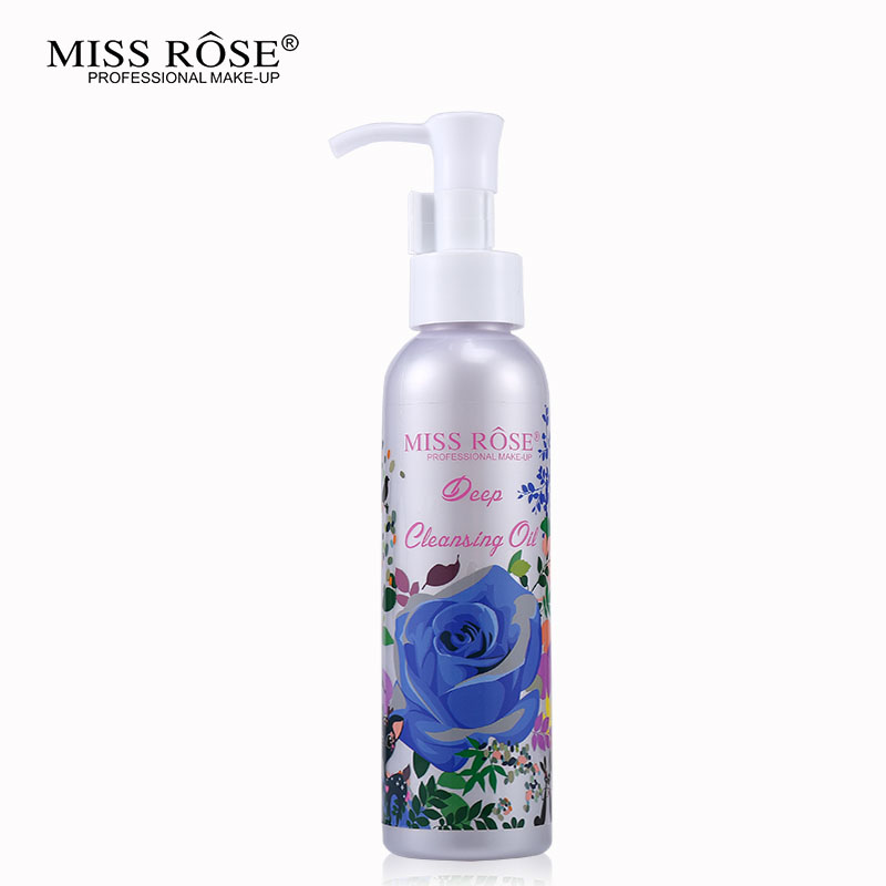 Miss Rose Makeup Remover Cosmetics Face Cleansing Oil 120ML Liquid Deep Cleansing Lotion Shrink Pores Lip Eye Clean Facial Care5