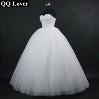 QQ Kochanka 2018 Nowy Musujące Suknia Balowa Suknia Ślubna Wykonana Na Zamówienie Plus Rozmiar Vestido De Noiva Suknia Ślubna Panny Młodej