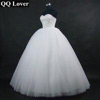 QQ Liebhaber 2018 Neue Funkelnden Ballkleid Hochzeitskleid Nach Maß Plus Größe Vestido De Noiva Braut Hochzeitskleid