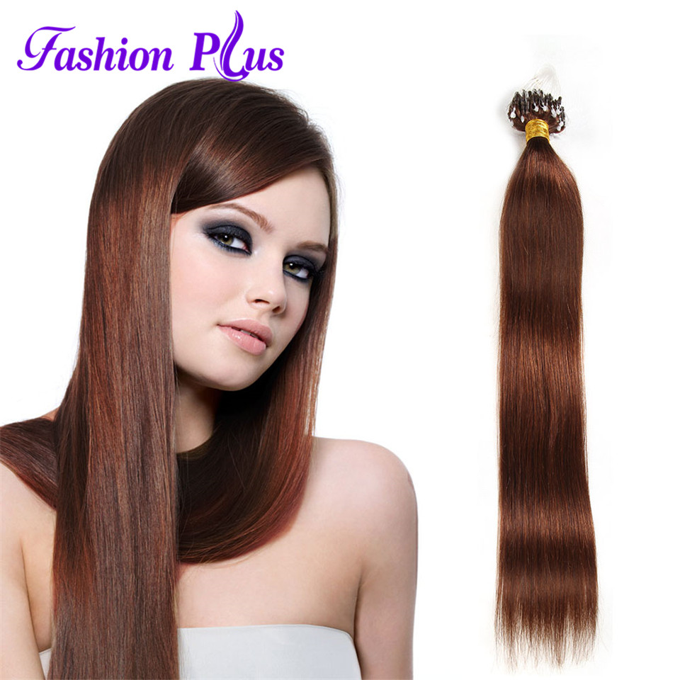 Hot Sale Indian Virgin Hair Stright 100strands Human Hair Weave Micro - Menneskehår (hvid) - Foto 2