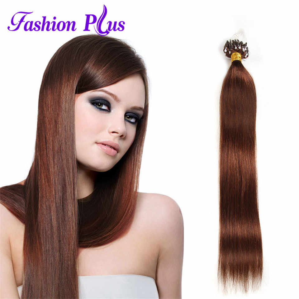 FashionPlus Micro Loop Ring Hair Extension Blonde Remy Hair  Colored Hair Locks 18-24''Micro Bead Hair Extensions 1g/strand 100g