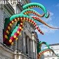 Angepasst Städtischen-Kunst im freien grün riesen aufblasbare krake tentakel aufblasbare inkfish füße für halloween dekoration
