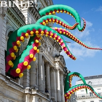 Customized Urban Art outdoor green giant inflatable octopus tentacle inflatable inkfish feet for halloween decoration