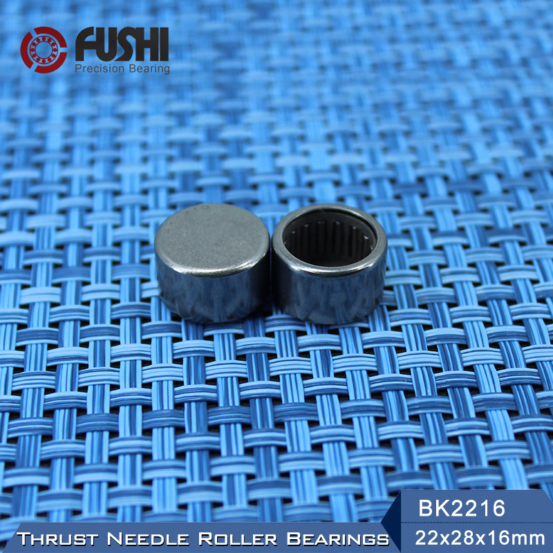 BK2216 Needle Bearings 22*28*16 mm ( 1 Pc ) Drawn Cup Needle Roller Bearing  BK222816 Caged Closed ONE End 55941/22 nk38 20 bearing 38 48 20 mm 1 pc solid collar needle roller bearings without inner ring nk38 20 nk3820 bearing