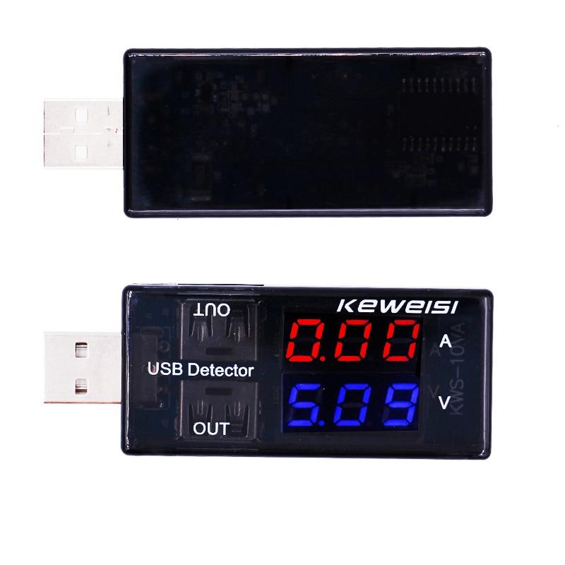 Tester di tensione corrente USB Voltmetro USB Rivelatore amperometro Doppia fila mostra 25% di sconto