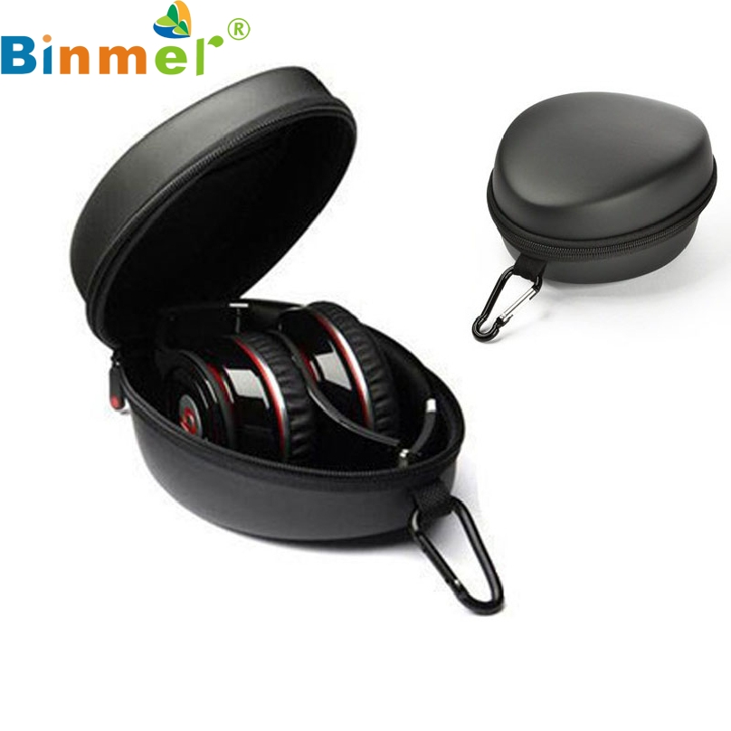 Top Quality EVA Anti shock Protection Cover For Headphone Portable Earphone Headset Carrying Hard Case Black