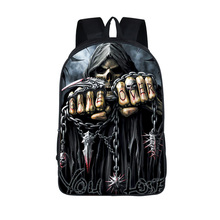 16 Inch Death Skul Student Backpack Child Schoolbag Backpacks For Teenagers Boys Girls Funny Skull School Book Bag Kid Best Gift