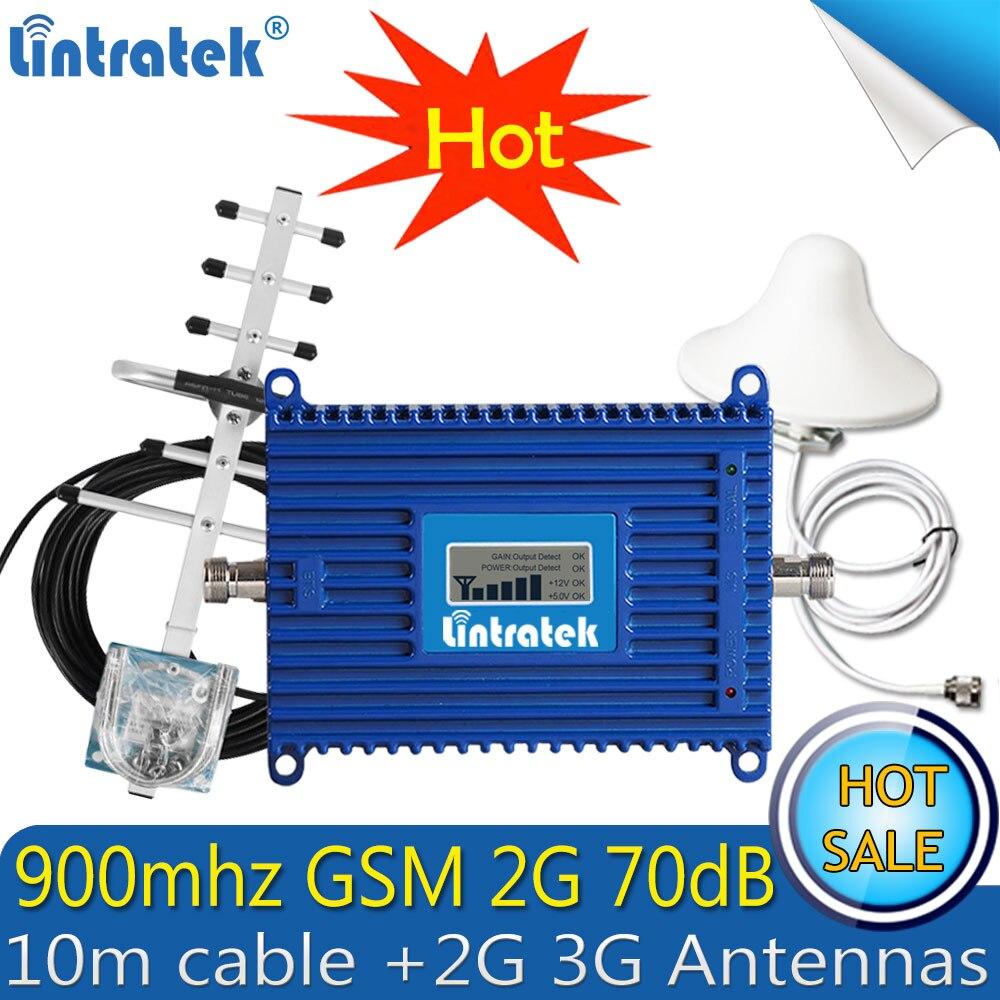 を Lintratek GSM 900 Mhz 2 グラムブースター gsm リピータ 900 repetidor デ sinal celular 利得 70dB 2 3g 携帯信号アンプ LTE アンテナ  グループ上の 携帯電話 & 電気通信 からの シグナルブースター の中 1