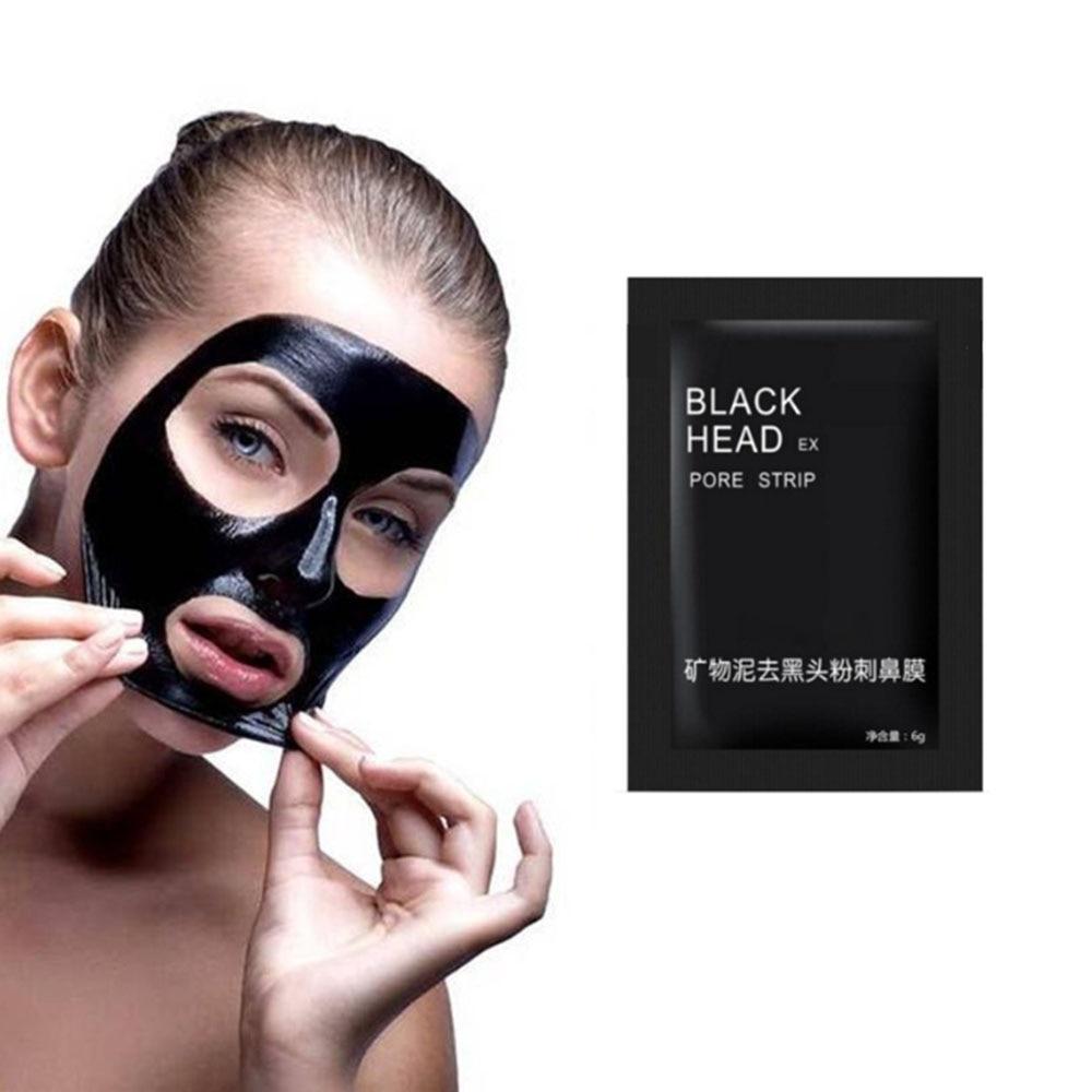 Очищающая маска для удаления угрей, маска для лица из бамбукового древесного угля, черная маска для лечения акне, маска для контроля жирност...