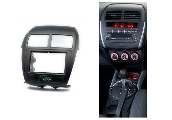 double din car radio fascia for mitsubishi asx rvr 2012 stereo fascia dash cd trim installation. Black Bedroom Furniture Sets. Home Design Ideas
