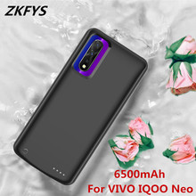 ZKFYS Power Case For VIVO IQOO Neo Bank Battery 6500mAh High Quality Silicone Shockproof External Charge