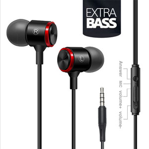 Image 5 - Super Bass Wired Headphone Earphones Sport Music Stereo Metal Earbuds Headset With Microphone For Samsung iPhone Xiaomi