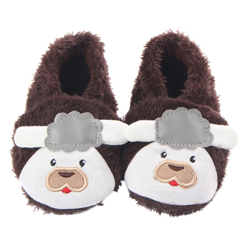 Wimter Warm Baby Shoes Infant Toddlers First Walkers Cute Smile Dog Baby Boy Girl Fabric Cartoon Shoes