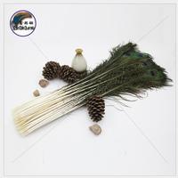 100 pcs peacock feather 80 90 cm orange plume decoration plumage performing wedding decoration