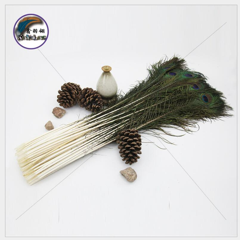 100 pcs plume de paon 80-90 cm orange plume décoration plumage spectacle mariage décoration