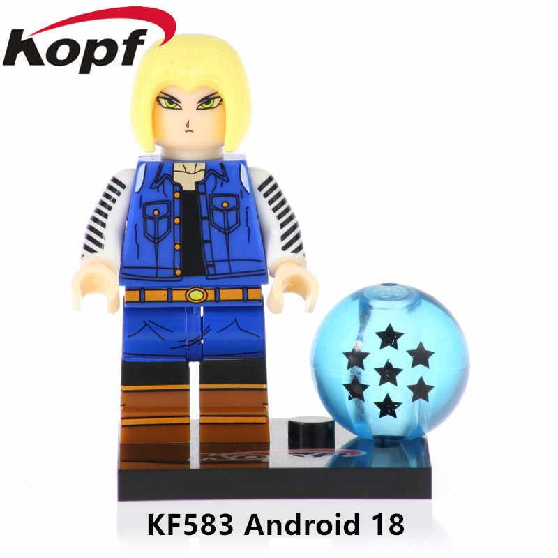KF578 venta única Super Héroes Vegeta modelo Klin Son Goku figuras Dragon Ball bloques de construcción para niños juguetes de navidad regalo