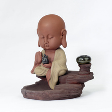 Ceramic colored sand ideas back home decoration purple Buddha Guanyin aroma of the incense burner furnace Aloes wood