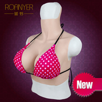 Roanyer transgender silicone fake huge boobs breast forms crossdressing G Cup for drag queen shemale crossdresser