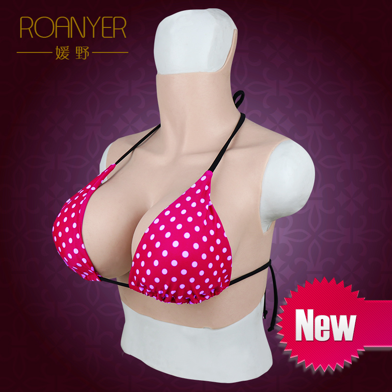 Roanyer transgender silicone fake huge boobs breast forms crossdressing G Cup for drag queen shemale crossdresser    1