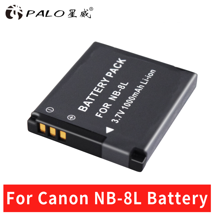 цена на Palo Battery For Canon NB-8L NB8L NB 8L Li-ion Battery For Canon PowerShot A3300 A3200 A3100 A2200 A1200 IS Camera Battery Pack