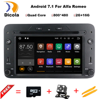 Quad Core Android 7.1.1 Car DVD GPS for Alfa Romeo 159 Sportwagon Spider Brera with BT Wifi Radio;support 4G DVR DAB+