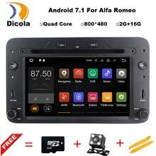Quad Core Android 7.1.1 Auto DVD GPS für Alfa Romeo 159 Sportwagon Spinne Brera mit BT Wifi Radio; unterstützung 4G DVR DAB +