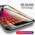 5D изогнутый край закаленное стекло для iPhone 6 6s плюс 7 8 Стекло полное покрытие Защита экрана для iPhone 8 7 плюс X защитное стекло - фото
