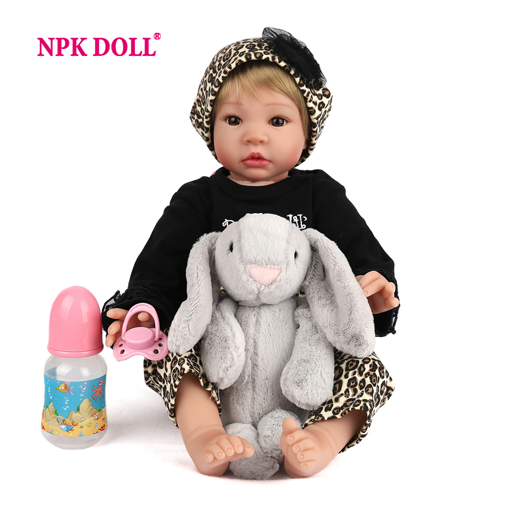 NPKDOLL 55cm baby dolls Realistic bebes reborn silicone toys for children Lifelike toys for children baby reborn silicone npkdoll 22 inch 55cm silicone reborn baby dolls with implanted mohair good price playmate christmas gift for children