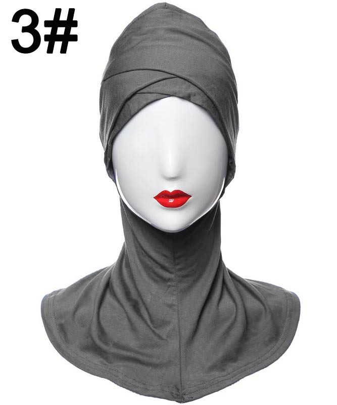 2018 New Style Modal double Crossover Muslim Hijab Islamic Inner Caps Underscarf Sport Hats HM205 10pcs/set