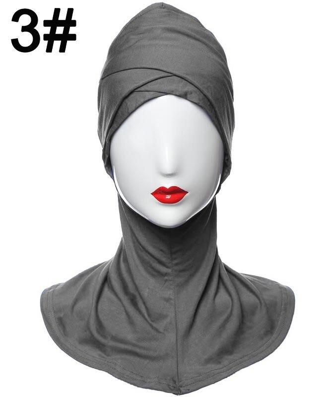 2018 nouveau Style Modal double croisement musulman Hijab islamique intérieur casquettes sous-écharpe Sport chapeaux HM205 10 pièces/ensemble