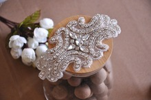 5 pieces small rhinestone applique for Wedding Headband, Hair Combo Accessores, Bridal Sashes, Braidal GarterBracelet