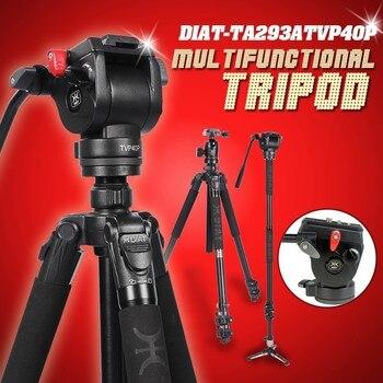DIAT Professional Portable Aluminium Camera Camcorder Tripod for Video DSLR Camera Stand with Hydraulic Head manfrotto miliboo