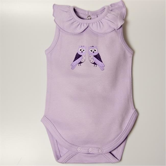Little Ashkim BGCBS912 Ruffled Collar Sleeveless Bodysuit – Lilac 9-12 months