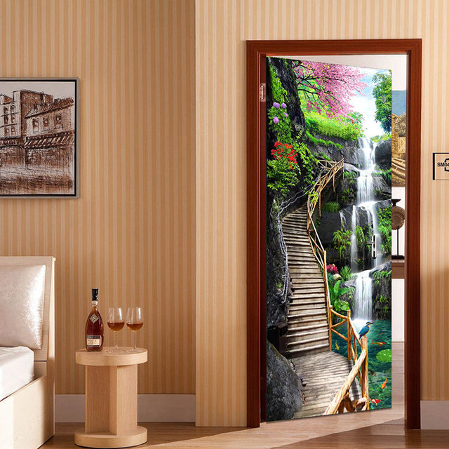 Online Shop 3D Wallpaper Chinese Style Waterfalls Nature Landscape