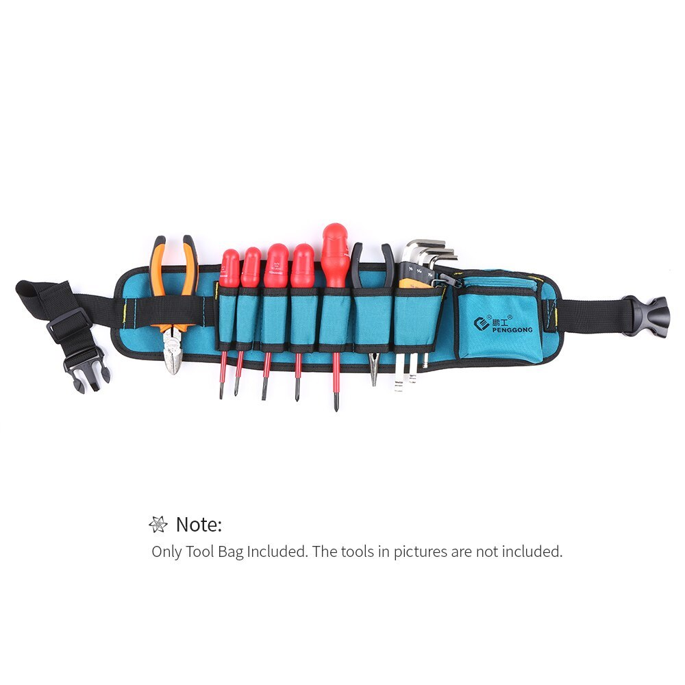 Multi-functional Waist Tool Bag Repairing Tool Organizer With Tool Belt Wearable & Waterproof For Electrician Woodworking Tools