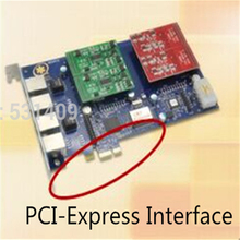 Asterisk PCI-Express карта FXS/FXO порт аналоговая Голосовая телефонная карта Asterisk/Trixbox/Elastix/Freeswitch IP PBX