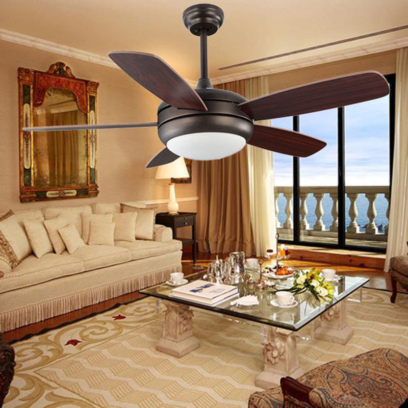 Светодиодный потолочный светильник, простой ресторанный светодиодный светильник вентилятор для спальни, гостиной, светодиодный светильни