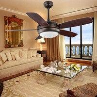 Led ceiling lamp simple restaurant LED fan light bedroom living room led chandelier remote control home energy saving lamp