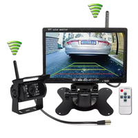 Parking System for 24V Truck Coach Bus CMOS IR Backup Camera Kit 7 inch TFT LCD Wireless Rear View Monitor