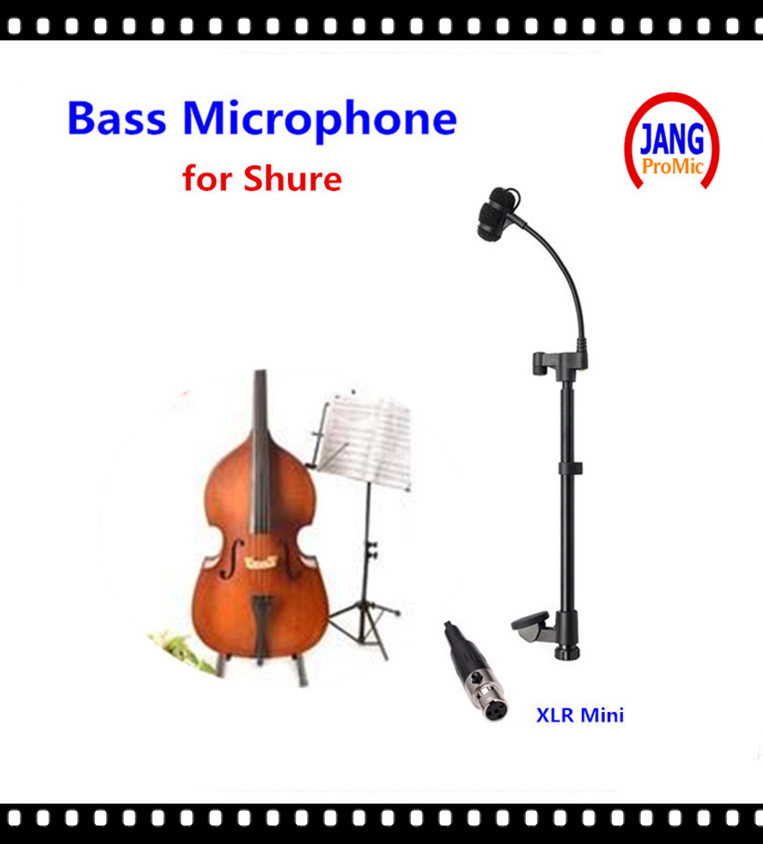 Professional Music Instrument Cello Condenser Microphone Lapela Microfone For Shure Wireless System Xlr Mini 4pin Mikrofon Latest Fashion Live Equipment