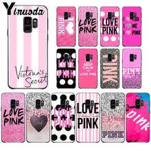 Yinuoda love pink  Pattern Soft Phone Accessories Cell Phone Case For Samsung Galaxy s9 s8 plus note 8 note9 s7  Mobile Cases