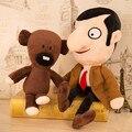 Regalo de navidad 2 Unids/set Mr. Bean 40/30 cm y Su Oso de Peluche 40/30 CM de Peluche de Juguete suaves Muñecos de Peluche para Niños Juguetes Para Niños