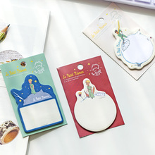 цена на 1 X Cartoon Little Prince Memo Pad Paper Sticky Notes Planner Sticker Paste Kawaii Stationery Papeleria Office School Supplies