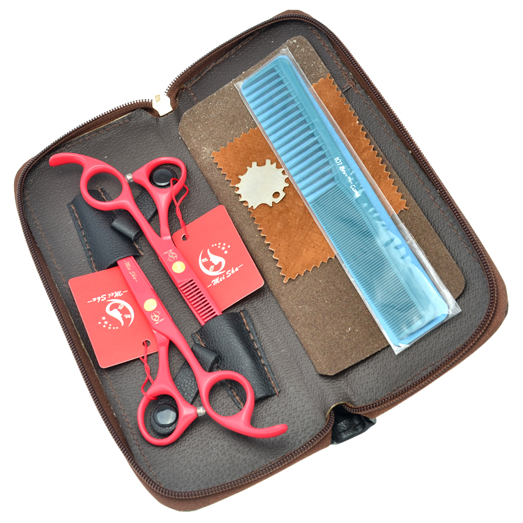 5 5 quot Meisha Professional Hairdressing Scissors Kits JP440C Hair Cutting amp Thinning Scissors with Hairdresser Bag Salon HA0210 in Hair Scissors from Beauty amp Health